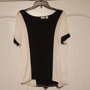 Cato - black and white top